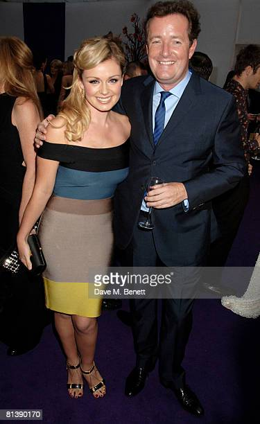 Katherine Jenkins and Piers Morgan attend the Glamour Woman Of The Year Awards at Berkeley Square on June 3 2008 in London England