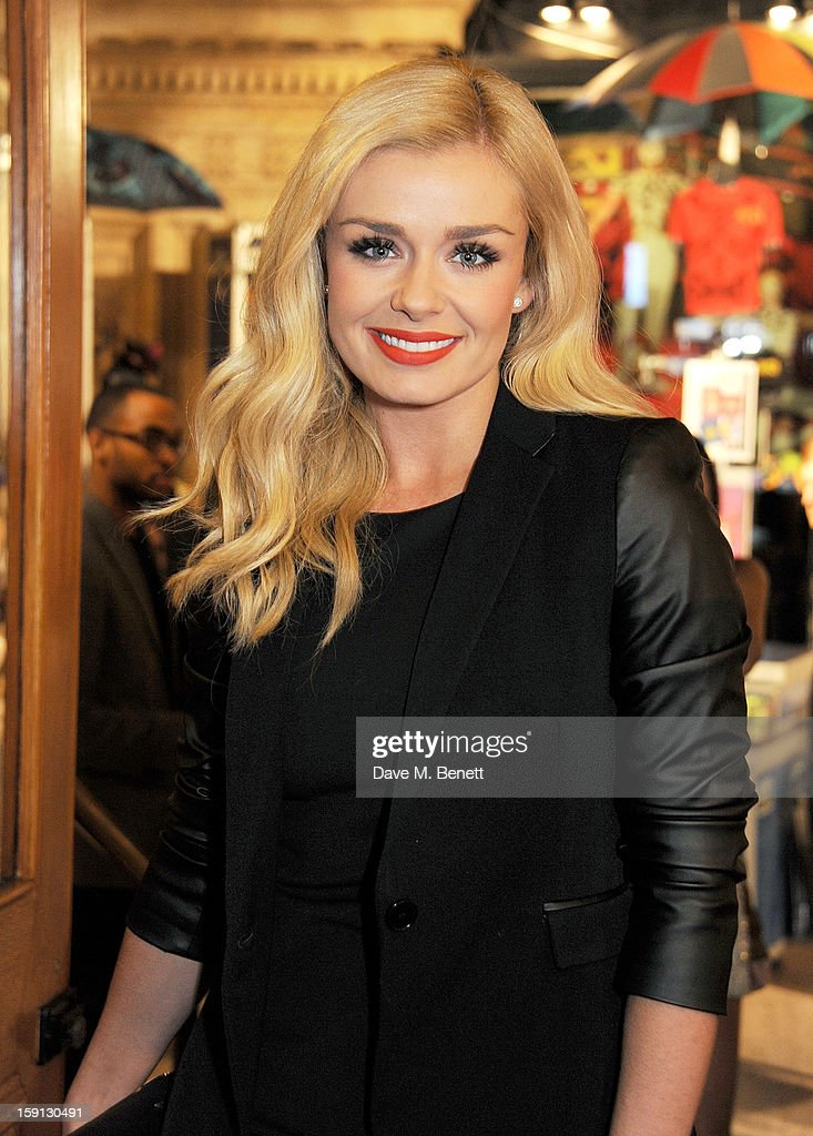 Katherine Jenkins arrives at the opening night of Cirque Du Soleil's Kooza at Royal Albert Hall on January 8, 2013 in London, England.