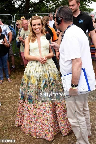 Katherine Jenkins at Day 4 of Latitude Festival at Henham Park Estate on July 16 2017 in Southwold England