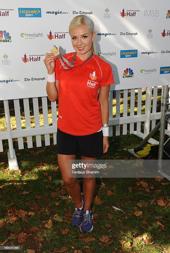 Katherine Jenkins attends a photocall ahead of taking part in the Royal Parks Foundation Half Marathon at Hyde Park on October 6, 2013 in London, England.