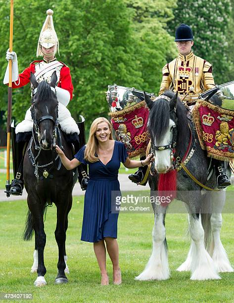 Katherine Jenkins attends a photocall to launch plans for a major celebration to mark the Queen's 90th Birthday next year at the Royal Windsor Horse...
