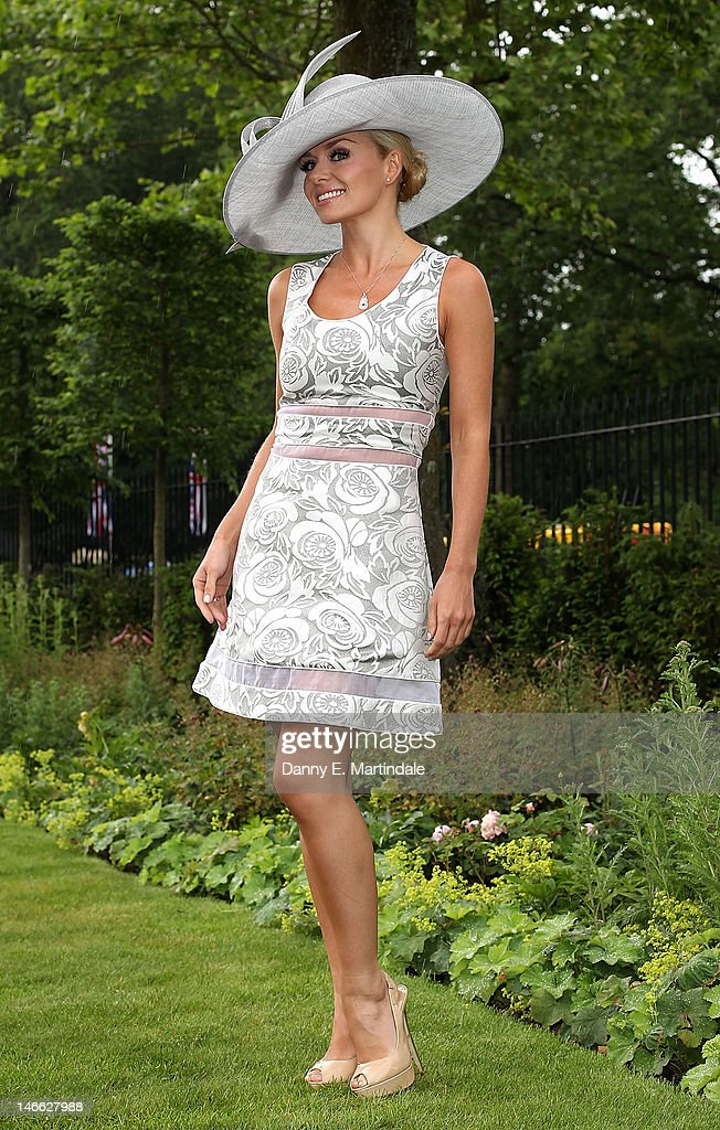 Katherine Jenkins attends Ladies Day of Royal Ascot at Ascot Racecourse on June 21, 2012 in Ascot, England.