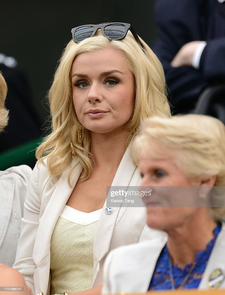 <a gi-track='captionPersonalityLinkClicked' href=/galleries/search?phrase=Katherine+Jenkins&family=editorial&specificpeople=204776 ng-click='$event.stopPropagation()'>Katherine Jenkins</a> attends on Day 8 of the Wimbledon Lawn Tennis Championships at the All England Lawn Tennis and Croquet Club at Wimbledon on July 2, 2013 in London, England.