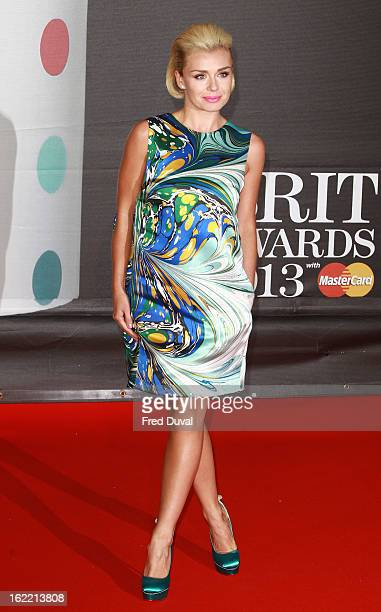 Katherine Jenkins attends the Brit Awards at 02 Arena on February 20 2013 in London England