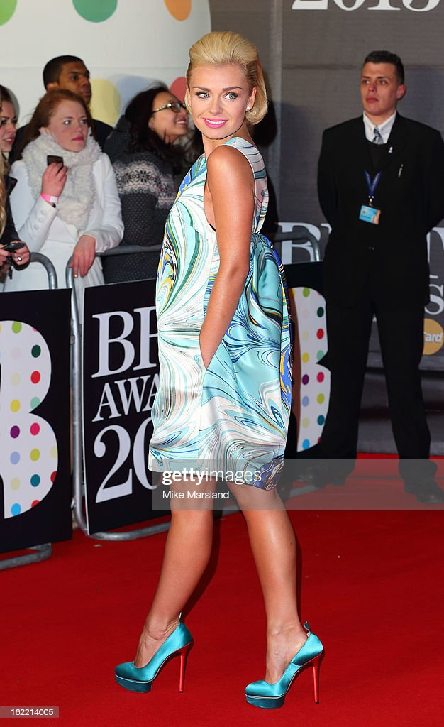 Katherine Jenkins attends the Brit Awards at 02 Arena on February 20, 2013 in London, England.