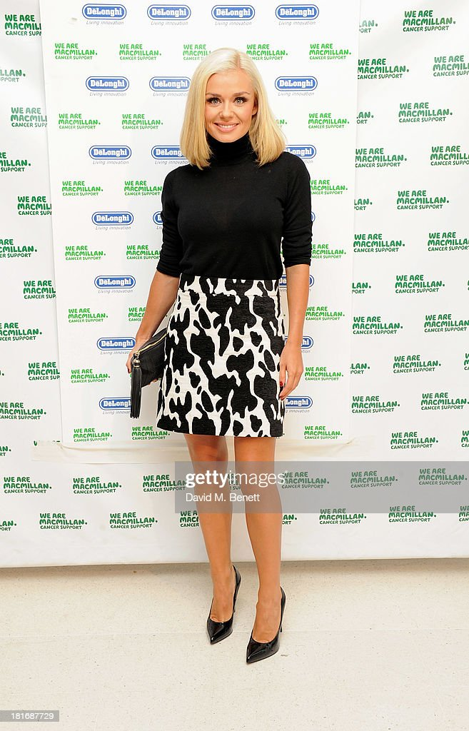 <a gi-track='captionPersonalityLinkClicked' href=/galleries/search?phrase=Katherine+Jenkins&family=editorial&specificpeople=204776 ng-click='$event.stopPropagation()'>Katherine Jenkins</a> attends the Macmillan De'Longhi Art Auction, raising money for Macmillan Cancer Support, at Royal College of Art on September 23, 2013 in London, England