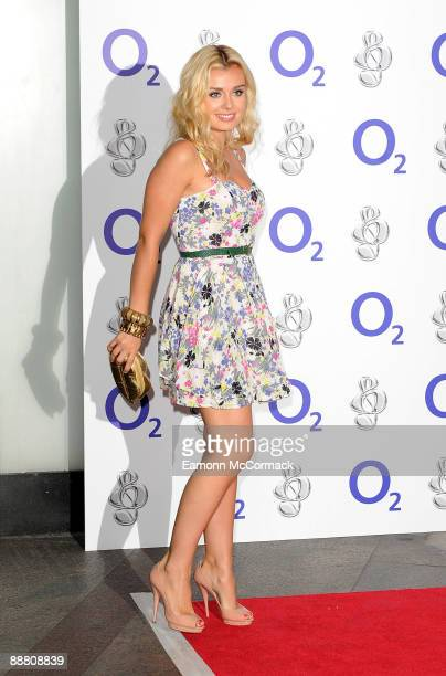 Katherine Jenkins attends the O2 Silver Clef Awards at London Hilton on July 3 2009 in London England