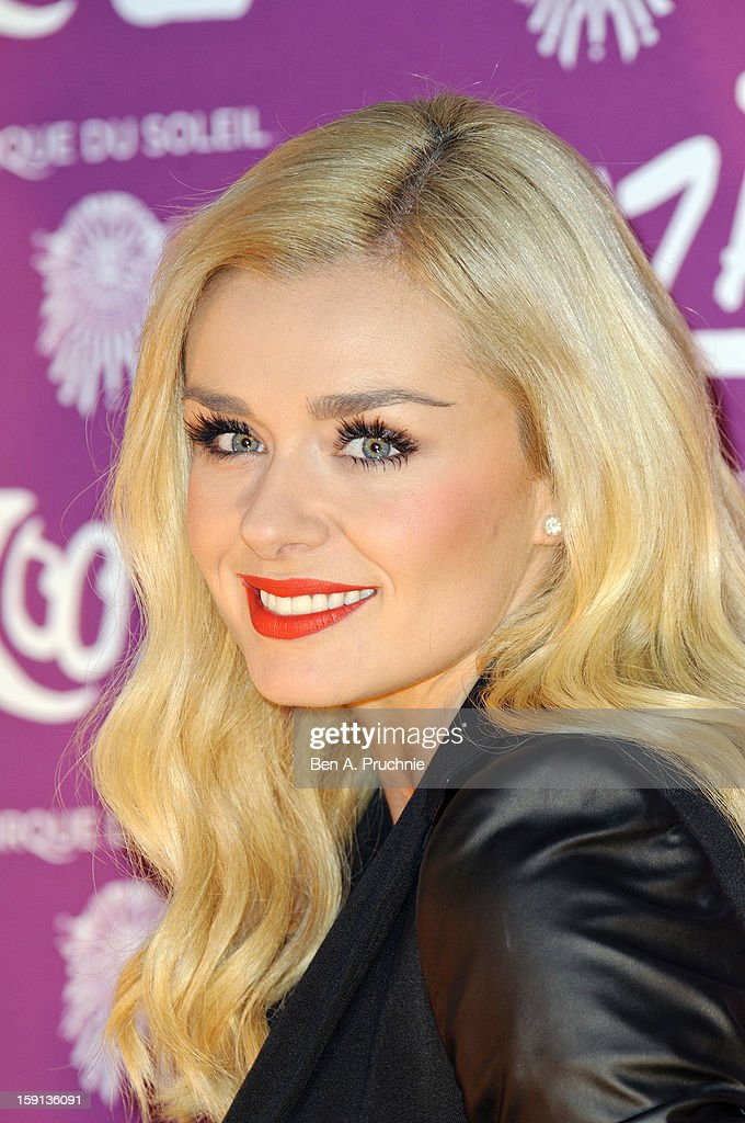 Katherine Jenkins attends the opening night of Cirque Du Soleil's Kooza at the Royal Albert Hall on January 8, 2013 in London, England.