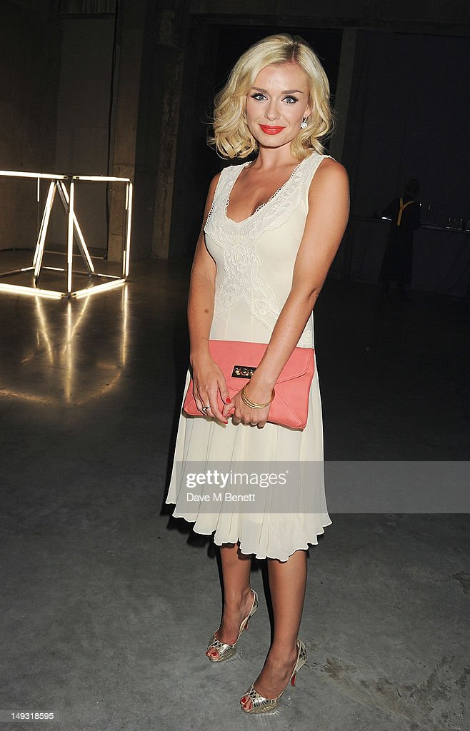 Katherine Jenkins attends the Warner Music Group Pre-Olympics Party in the Southern Tanks Gallery at the Tate Modern on July 26, 2012 in London, England