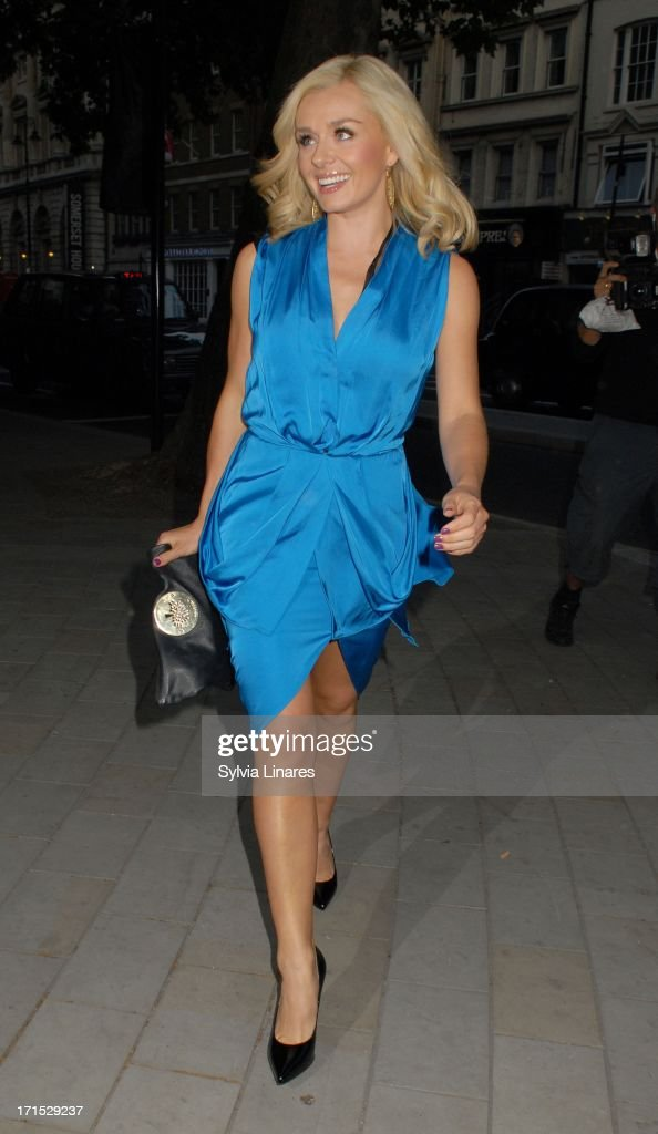 Katherine Jenkins leaving Radio Rooftop Bar ME Hotel on June 25, 2013 in London, England.