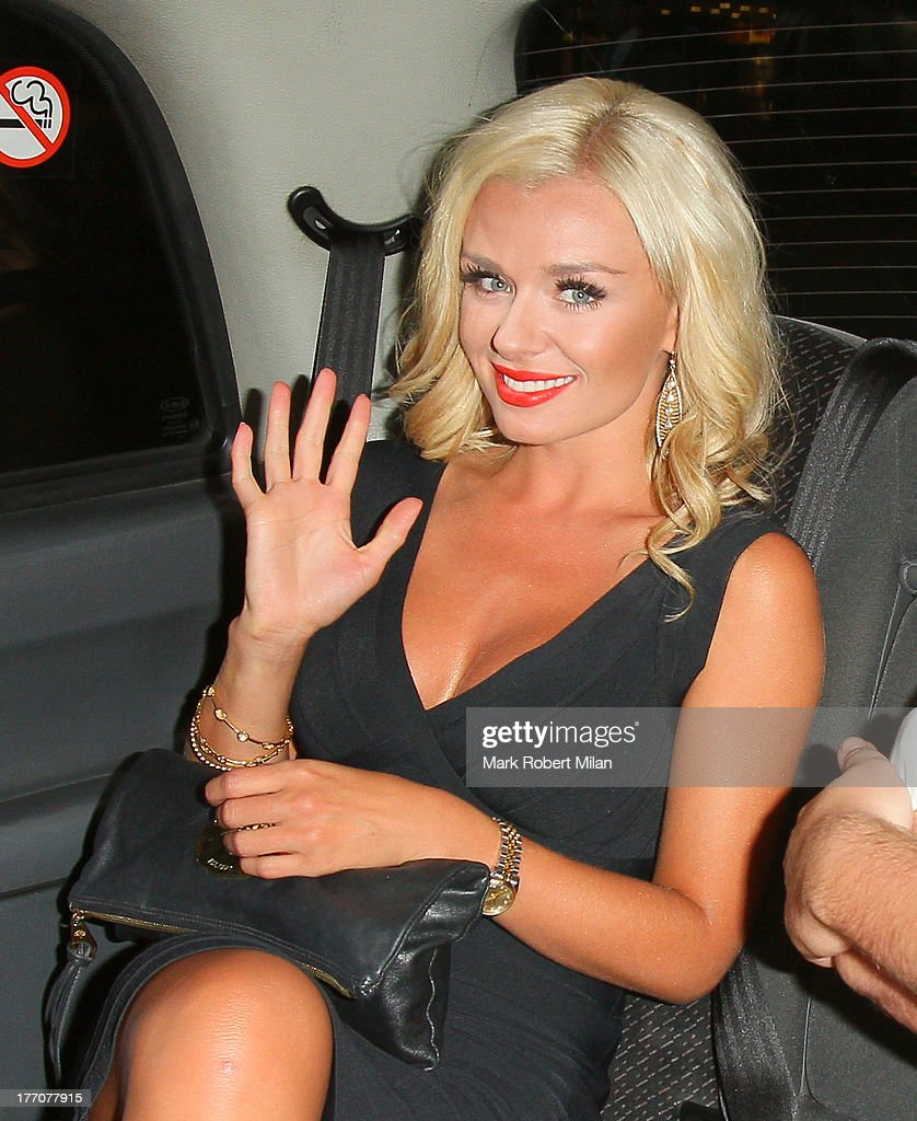 <a gi-track='captionPersonalityLinkClicked' href=/galleries/search?phrase=Katherine+Jenkins&family=editorial&specificpeople=204776 ng-click='$event.stopPropagation()'>Katherine Jenkins</a> leaving the Radio bar on August 20, 2013 in London, England.