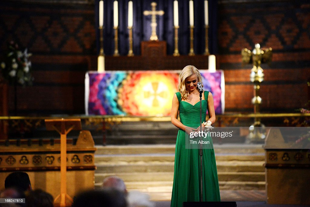 <a gi-track='captionPersonalityLinkClicked' href=/galleries/search?phrase=Katherine+Jenkins&family=editorial&specificpeople=204776 ng-click='$event.stopPropagation()'>Katherine Jenkins</a> performs at fundraiser at St David's Church, Neath, in aid of the St David's Church Tower Restoration Appeal on May 7, 2013 in Neath, Wales.