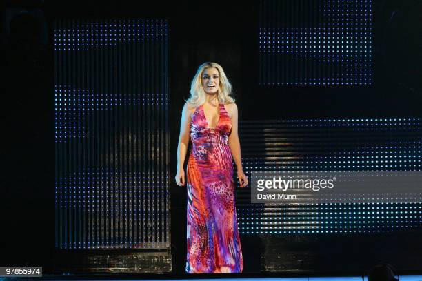 Katherine Jenkins performs at The Liverpool Echo Arena on March 18 2010 in Liverpool England
