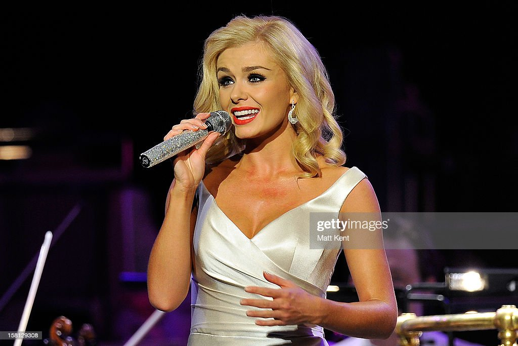 Katherine Jenkins performs at the Royal Albert Hall on December 10, 2012 in London, England.