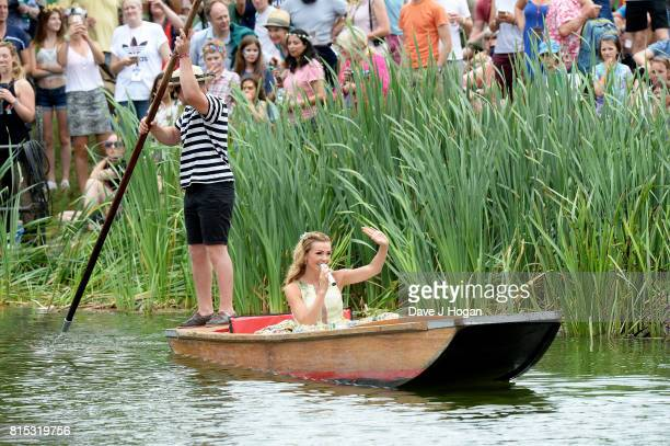 Katherine Jenkins performs on Day 4 of Latitude Festival at Henham Park Estate on July 16 2017 in Southwold England