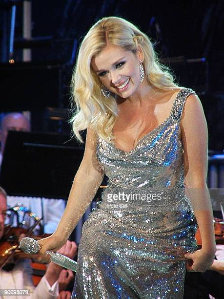 Katherine Jenkins performs on stage at the BBC Proms In The Park at Hyde Park on September 12 2009 in London England