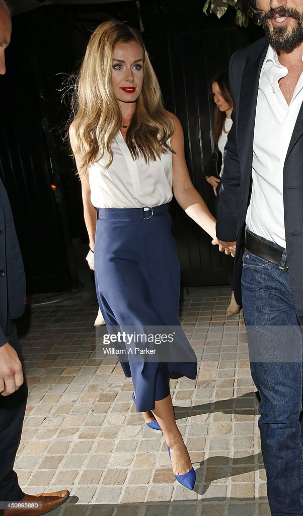 Katherine Jenkins seen leaving The Chiltern Firehouse on June 19, 2014 in London, England.