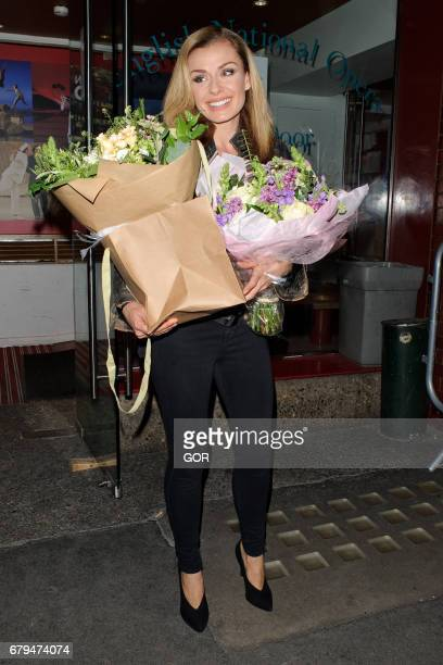 Katherine Jenkins sighting leaving the Coliseum theatre on May 5 2017 in London England