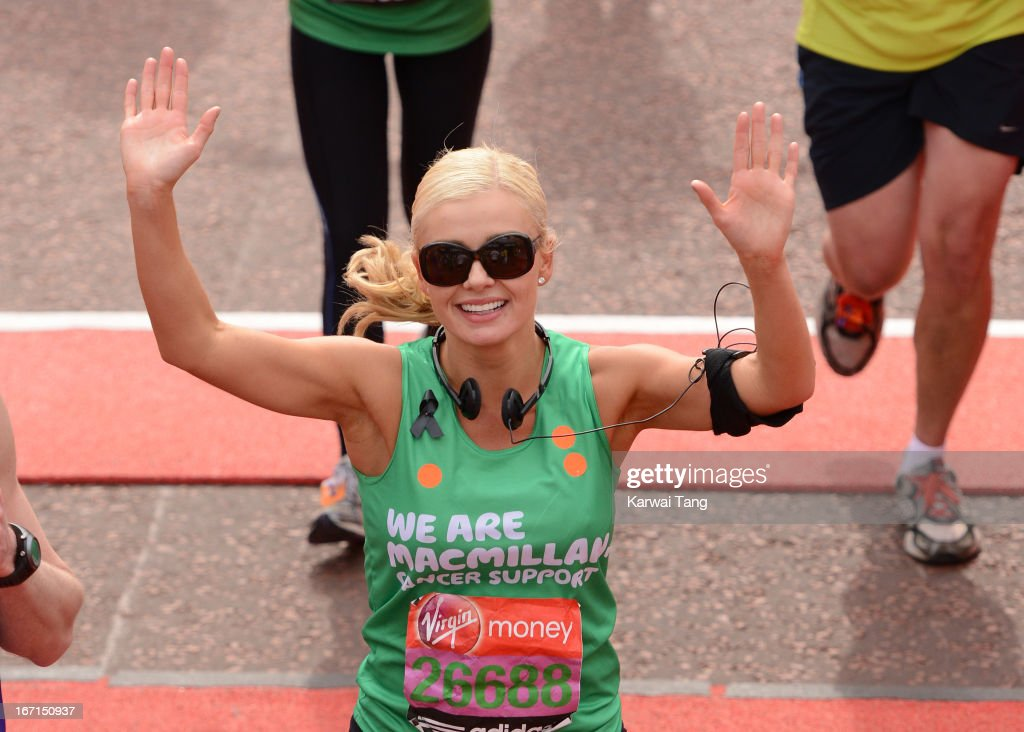 <a gi-track='captionPersonalityLinkClicked' href=/galleries/search?phrase=Katherine+Jenkins&family=editorial&specificpeople=204776 ng-click='$event.stopPropagation()'>Katherine Jenkins</a> takes part in the Virgin London Marathon on April 21, 2013 in London, England.