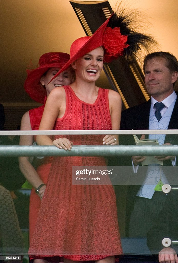 Katherine Jenkins watches the racing on Day 2 of Royal Ascot at Ascot Racecourse on June 15, 2011 in Ascot, England.