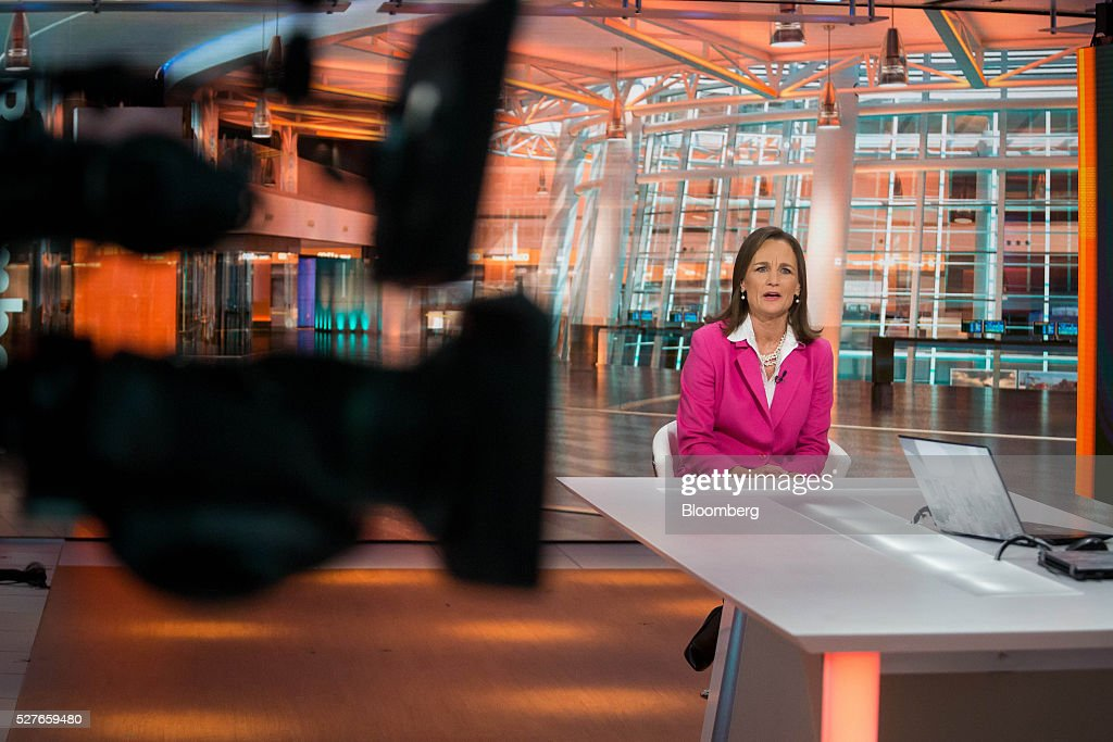 Katherine 'Kathy' Brown, executive director of New York City Ballet Inc., speaks during a Bloomberg Television interview in New York, U.S., on Tuesday, May 3, 2016. Brown discussed how the ballet changed its business approach to return to profitability and convinced former Beatle Sir Paul McCartney to create an original musical piece for the company. Photographer: Michael Nagle/Bloomberg via Getty Images