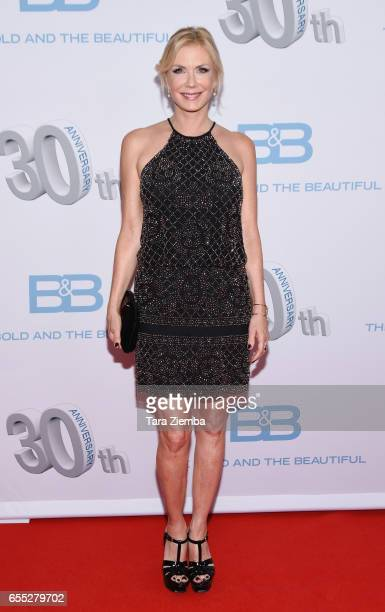 Katherine Kelly Lang and Dom Zoida attend the CBS's 'The Bold And The Beautiful' 30th Anniversary Party at Clifton's Cafeteria on March 18 2017 in...