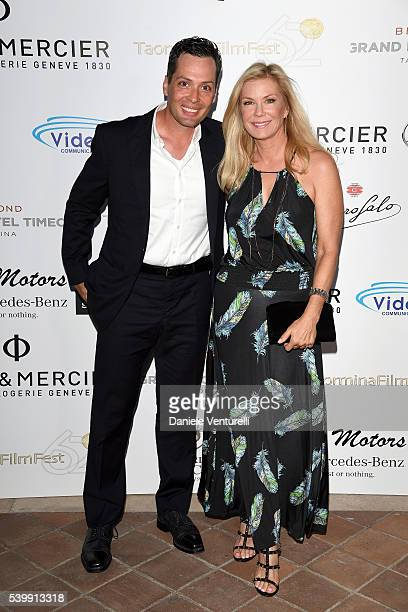 Katherine Kelly Lang and Dominique Zoida attend 62 Taormina Film Fest Day 3 on June 13 2016 in Taormina Italy