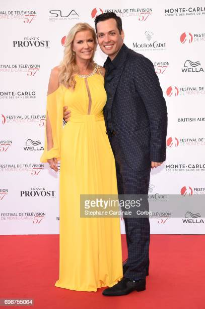 Katherine Kelly Lang and Dominique Zoida attend the 57th Monte Carlo TV Festival Opening Ceremony on June 16 2017 in MonteCarlo Monaco
