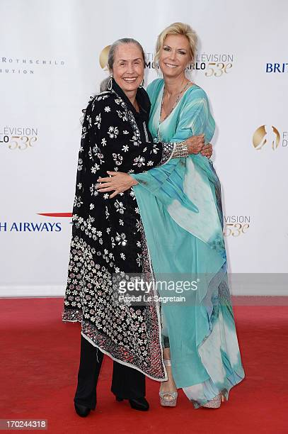 Katherine Kelly Lang and her mother actress Judith Lang attend the opening ceremony of the 53rd Monte Carlo TV Festival on June 9 2013 in MonteCarlo...