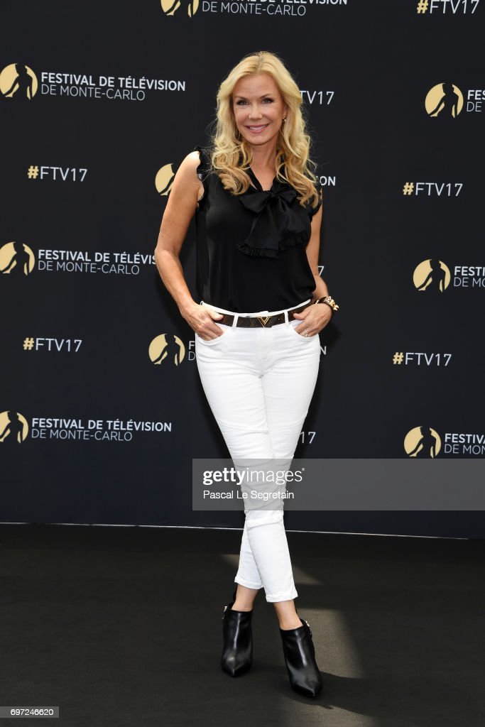 Katherine Kelly Lang from 'The bold and the beautiful' attends a photocall during the 57th Monte Carlo TV Festival : Day 3 on June 18, 2017 in Monte-Carlo, Monaco.