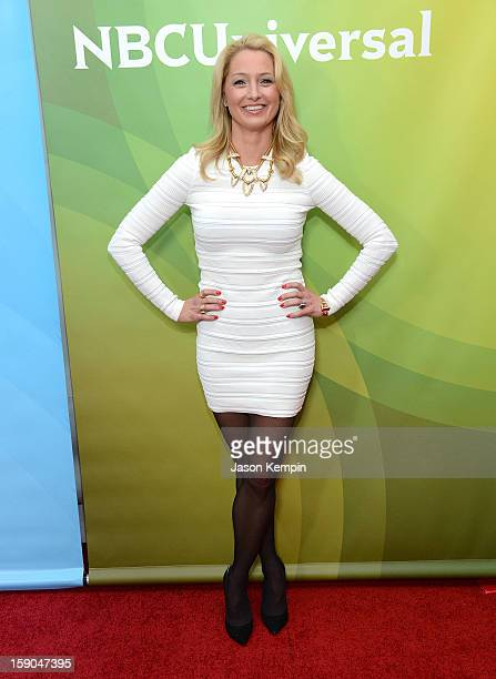 Katherine LaNasa attends NBCUniversal's '2013 Winter TCA Tour' Day 1 at Langham Hotel on January 6 2013 in Pasadena California