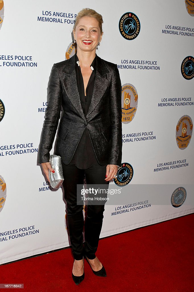 Katherine LaNasa attends the Los Angeles Police Memorial Foundation's celebrity poker tournament at Saban Theatre on April 27, 2013 in Beverly Hills, California.