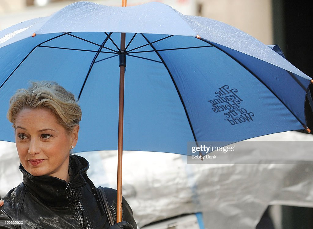 <a gi-track='captionPersonalityLinkClicked' href=/galleries/search?phrase=Katherine+LaNasa&family=editorial&specificpeople=1059101 ng-click='$event.stopPropagation()'>Katherine LaNasa</a> filming on location for 'Infamous' on November 13, 2012 in New York City.