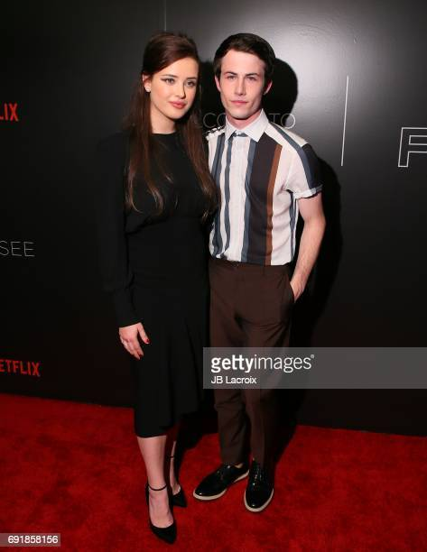 Katherine Langford and Dylan Minnette attend Netflix's '13 Reasons Why' FYC event at Netflix FYSee Space on June 02 2017 in Beverly Hills California