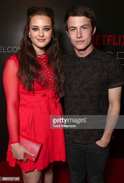Katherine Langford and Dylan Minnette attend Netflix's FYSEE KickOff Event at Netflix FYSee Space on May 7 2017 in Beverly Hills California