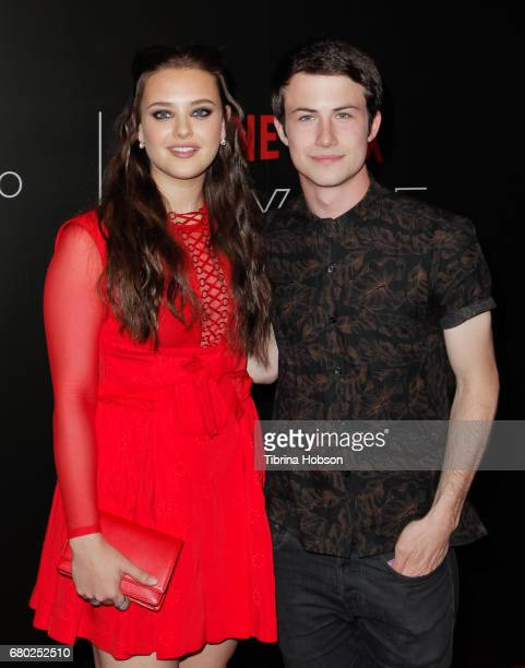 Katherine Langford and Dylan Minnette attend the Netflix FYSEE KickOff event at Netflix FYSee Space on May 7 2017 in Beverly Hills California