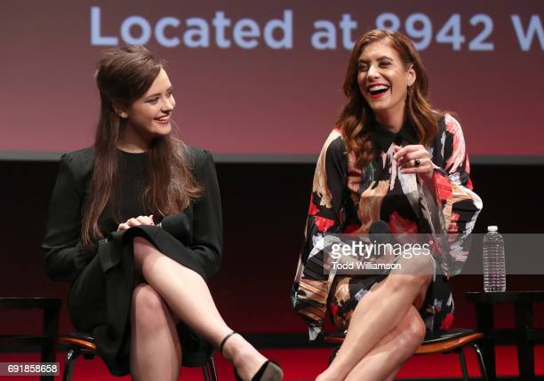 Katherine Langford and Kate Walsh attend the Netflix's '13 Reasons Why' FYC Event at Netflix FYSee Space on June 2 2017 in Beverly Hills California