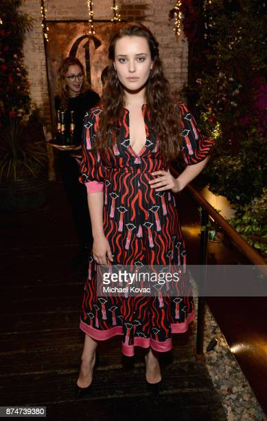 Katherine Langford at Moet Celebrates The 75th Anniversary of The Golden Globes Award Season at Catch LA on November 15 2017 in West Hollywood...