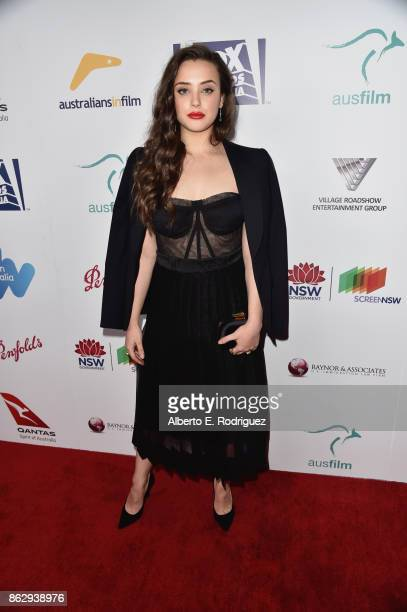 Katherine Langford attends the 6th Annual Australians in Film Award Benefit Dinner at NeueHouse Hollywood on October 18 2017 in Los Angeles California