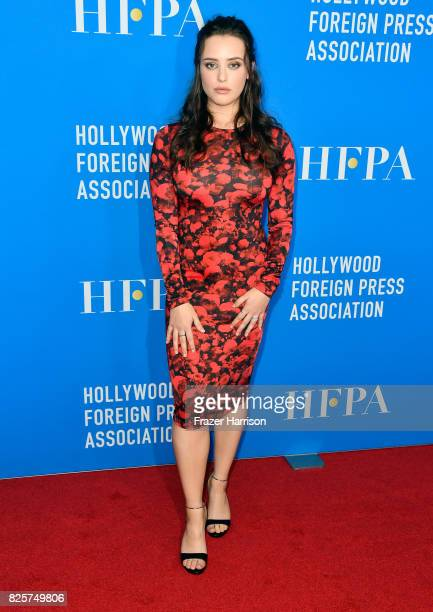 Katherine Langford attends the Hollywood Foreign Press Association's Grants Banquet at the Beverly Wilshire Four Seasons Hotel on August 2 2017 in...