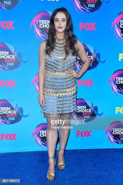 Katherine Langford attends the Teen Choice Awards 2017 at Galen Center on August 13 2017 in Los Angeles California