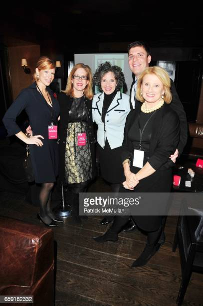 Katherine Lee Jayne Olson Gail Grimmett Judd Hooks and Mary Ellis Harwood attend DELTA SKY Magazine launch party at Whiskey Park NYC on February 24...