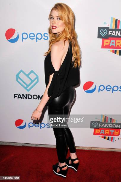 Katherine Mcnamara arrives at FANDOM's Annual ComicCon KickOff Party at Float at Hard Rock Hotel San Diego on July 20 2017 in San Diego California