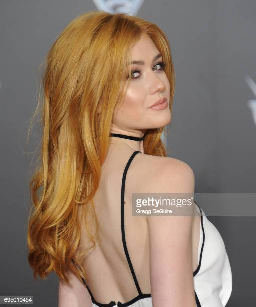 Katherine McNamara arrives at the premiere of Disney And Pixar's 'Cars 3' at Anaheim Convention Center on June 10 2017 in Anaheim California