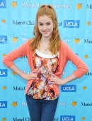 Katherine McNamara arrives to the 'Mattel Party on the Pier' benefiting Mattel Children's Hospital UCLA at Pacific Park on the Santa Monica Pier on...