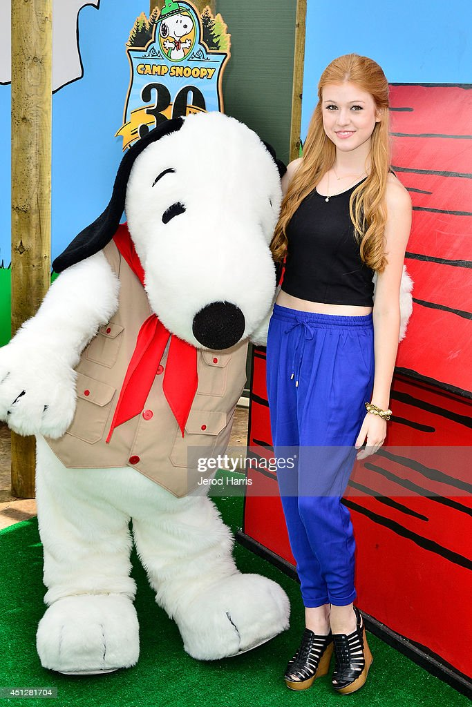 Katherine McNamara attends Camp Snoopy's 30th anniversary VIP party at Knott's Berry Farm on June 26 2014 in Buena Park California