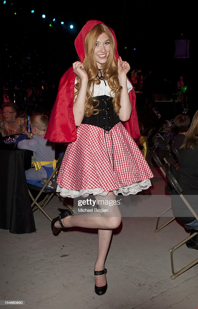 Katherine McNamara attends Keep A Child Alive Presents 2012 Dream Halloween Los Angeles - Inside at Barker Hangar on October 27, 2012 in Santa Monica, California.