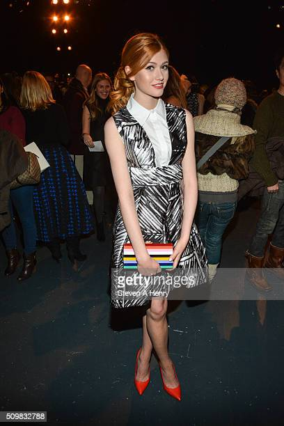 Katherine McNamara attends Milly Fall 2016 at Pier 59 on February 12 2016 in New York City