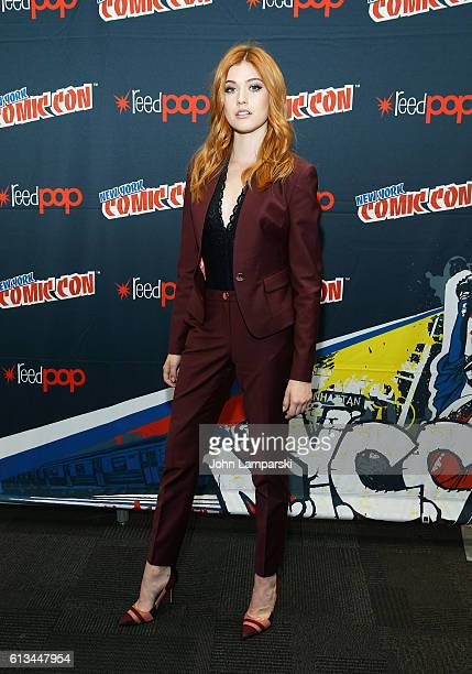 Katherine McNamara attends Shadowhunters press conference during the 2016 New York Comic Con day 3 on October 8 2016 in New York City