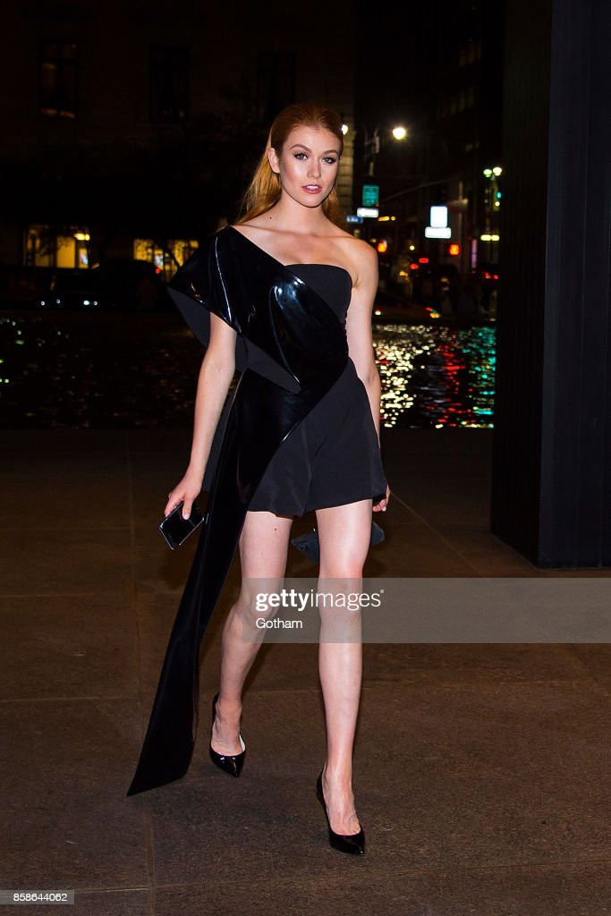 Katherine McNamara is seen in Midtown on October 6, 2017 in New York City.